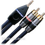"Monster Cable Stereo Mini 1/8"" Male to 2 RCA Male Y-Cable - 2.5'"