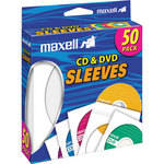 Maxell CD-400 CD/DVD White Paper Sleeves (Pack of 50)