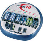 Ansmann Energy-16 Charger for NiMH and NiCd -  C, D, AA, AAA and 9V Batteries