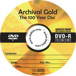 Delkin Devices DVD-R Archival Gold, Scratch Armor Disc in Hard Case Wallet (Pack of 10)