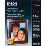 "Epson Ultra Premium Glossy Photo Paper - 8.5x11"" (Letter) - 50 Sheets"