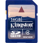 Kingston 16GB SDHC Memory Card Class 4