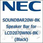 NEC SOUNDBAR20W-BK Speaker Bar for LCD2070WNX-BK (Black)