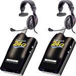 Eartec 2 Simultalk 24G Beltpacks with ProLine Single Headsets