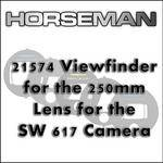 Horseman 21574 Viewfinder for the 250mm Lens for the SW 617 Camera