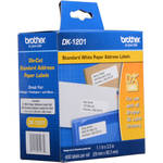 "Brother DK1201 1-1/7"" x 3-1/2"" Standard Adress Paper Labels (400 Labels) (White)"