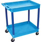 "Luxor TC11 32 x 24"" Two Shelf Heavy-duty Utility Cart (Blue)"