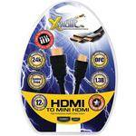 Xtreme Cables Mini HDMI (Type C) Male to HDMI (Type A) Male Cable - 12'