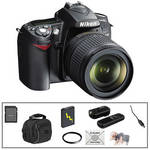 Nikon D90 SLR Digital Camera w/ 18-105mm VR Lens & Essential Kit