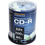 Aleratec CD-R Silver Duplicator Grade Recordable Disc (Spindle Pack of 100)