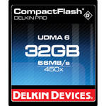 Delkin Devices 32GB CompactFlash Memory Card Pro 450x UDMA