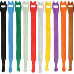 "Pearstone 0.5 x 12"" Touch Fastener Straps (Multi-Colored, 10-Pack)"