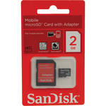 SanDisk 2GB microSD Memory Card Class 4 With SD Adapter