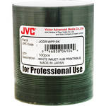 JVC Inkjet Hub Printable CD-R Media Discs (100-Pack, White)