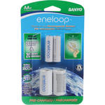 "Sanyo Eneloop AA NiMH 2-Pack with ""C"" Spacer"