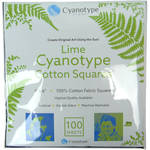 "Blue Sunprints Cyanotype Cotton Squares - 6 x 6"" (100 Pack, Lime)"
