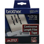 "Brother DK2113 2.4"" Black Print On Clear Tape (50'/15.2 m)"