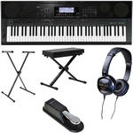 Casio WK-7500 76-Key Keyboard Basics B&H Kit