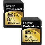 Lexar 8GB SDHC Memory Card Professional Class 10 UHS-I - 2-Pack