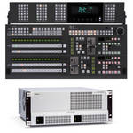 For.A HVS-4000 Video Switcher with 2 M/E 16-Button Control Panel
