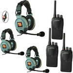 Eartec 3-User SC-1000 Two-Way Radio System with MAX3G Double Inline PTT