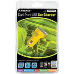 Xtreme Cables Dual Port USB Car Charger (Yellow)