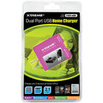 Xtreme Cables Dual Port USB Home Charger (Pink)