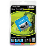 Xtreme Cables Dual Port USB Home Charger (Blue)