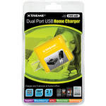 Xtreme Cables Dual Port USB Home Charger (Yellow)