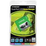 Xtreme Cables Dual Port USB Home Charger (Green)