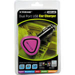 Xtreme Cables Dual Port USB Car Charger (Pink)