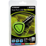 Xtreme Cables Dual Port USB Car Charger (Green)