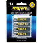 Powerex MHRAA4 Rechargeable AA NiMH Batteries (1.2V, 2700mAh) - 4-Pack
