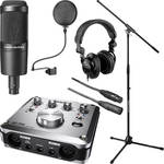 Audio-Technica AT2035 Mic, ATH-M20 Headphones and Tascam US-200 Interface Kit