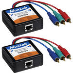 MuxLab 500054 Component Video/IR Pass-Thru Balun (Male), 2-Pack
