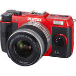 Pentax Q10 Compact Digital Interchangeable Lens Camera with 5-15mm Lens (Red)