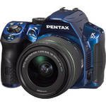 Pentax K-30 Digital Camera with DA 18-55mm f/3.5-5.6 AL WR Zoom Lens (Blue)