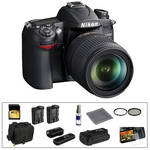 Nikon D7000 Digital SLR Camera and 18-105mm DX VR Lens with Deluxe Accessory Kit