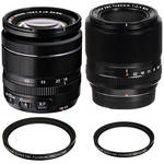 Fujifilm XF 60mm and 18-55mm Lens Kit with Protector Filters