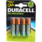 Duracell AA HR6 DC1500 Rechargeable NiMH Batteries (2400mAh, 4 Pack)