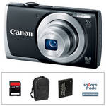 Canon PowerShot A2500 Digital Camera Deluxe Accessory Kit (Black)