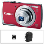 Canon PowerShot A2500 Digital Camera Basic Accessory Kit (Red)