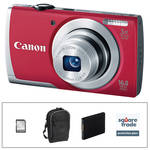 Canon PowerShot A2500 Digital Camera Deluxe Accessory Kit (Red)