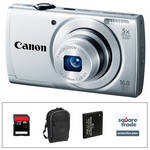 Canon PowerShot A2500 Digital Camera Deluxe Accessory Kit (Silver)