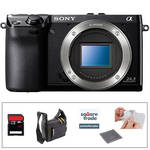 Sony Sony Alpha NEX-7 Digital Camera Kit with Essential Accessories (Black)