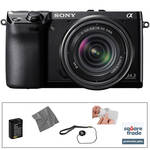 Sony Sony Alpha NEX-7 Digital Camera and 18-55mm Lens Kit with Essential Accessories (Black)