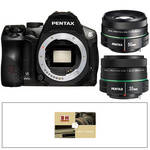 Pentax K-30 Digital SLR Camera Kit with 50mm f/1.8 and 35mm f/2.4 Lenses (Black)