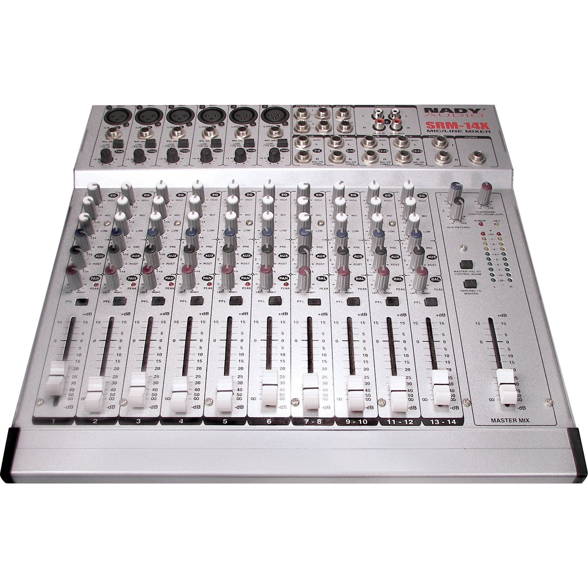 nady srm 14x 14 channel stereo mic line mixer srm 14x b h photo. Black Bedroom Furniture Sets. Home Design Ideas