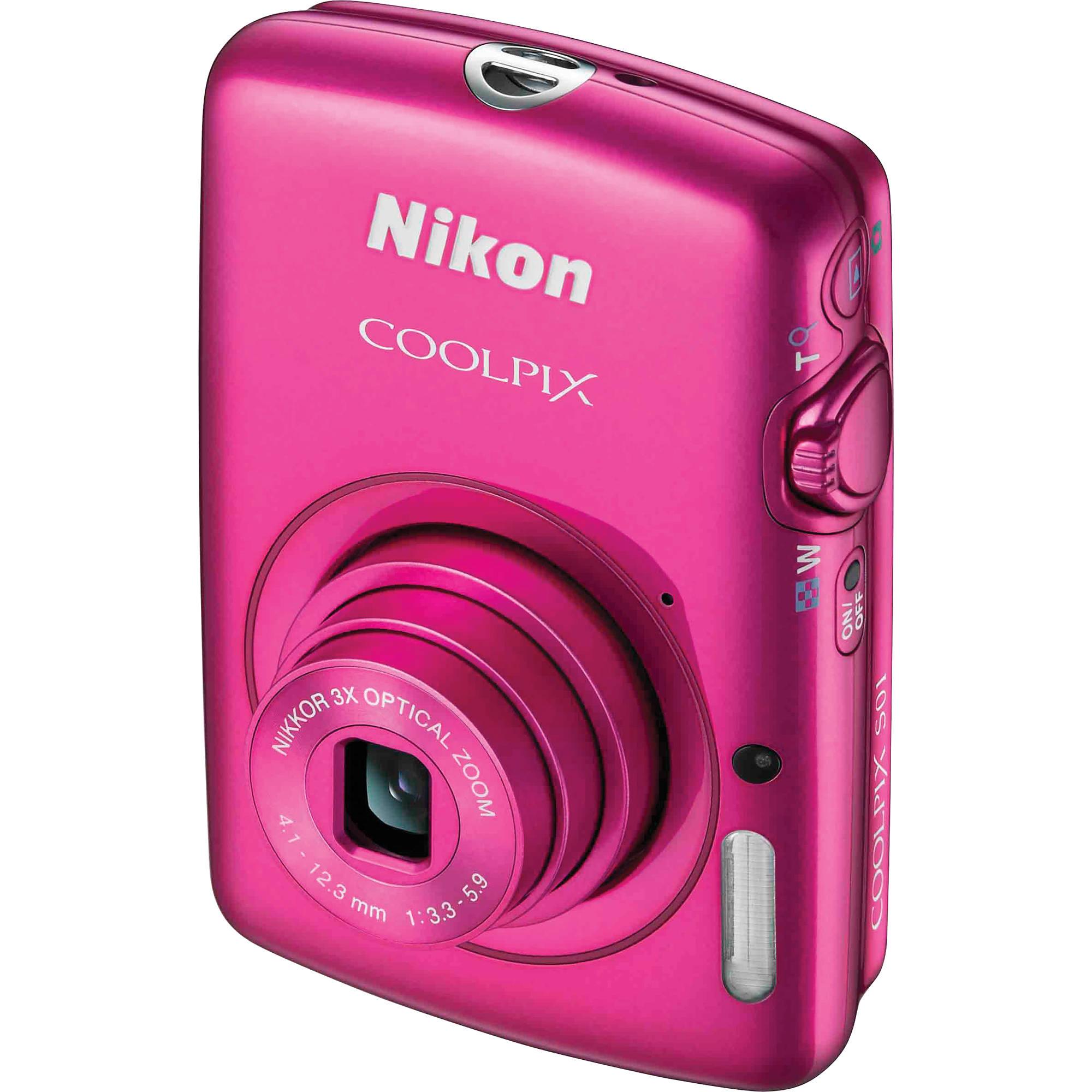Nikon COOLPIX S01 Digital Camera (Pink) 26350 B&H Photo Video