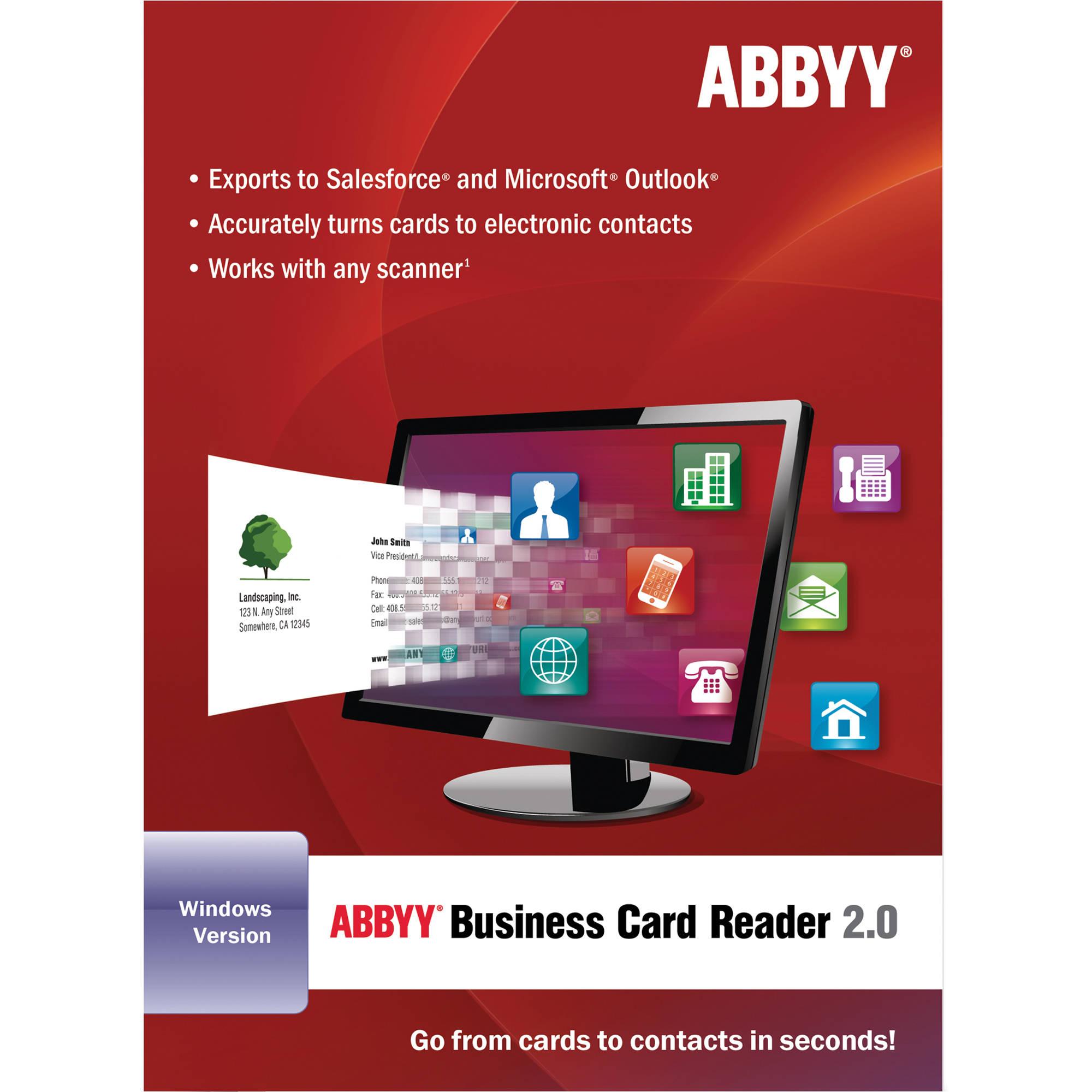 ABBYY ABBYY Business Card Reader 2 0 for Windows FRLBCRDFW2XB